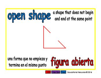 open shape/figura abierta geom 1-way blue/rojo