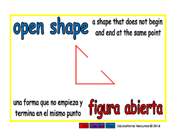 open shape/figura abierta geom 1-way blue/rojo