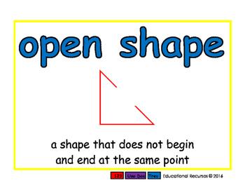 open shape/figura abierta geom 2-way blue/rojo
