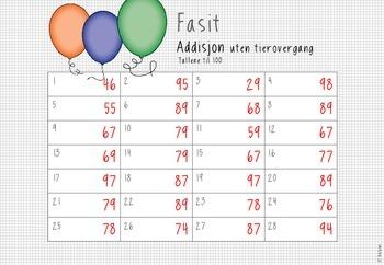 oppdrag: matematikk – addisjon av tosifrede tall uten tierovergang