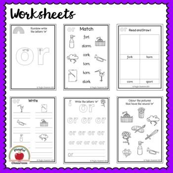 or Phonics Worksheet Pack