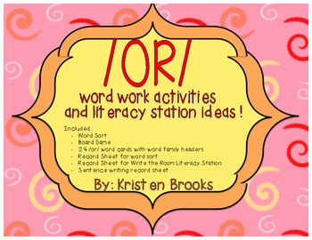 /or/ Word Work Pack and Literacy Station Activities!