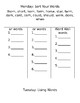 or/ar Spelling Homework Packet