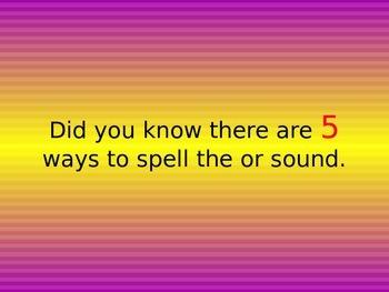 or au al aw alternate spelling of the same sound
