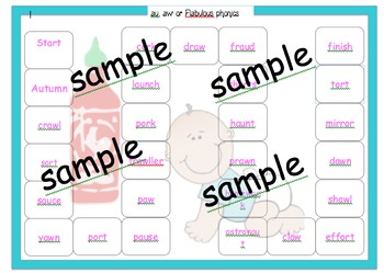 or, au and aw Phonic sorting Year 1 screen