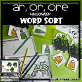 or, ore, ar word sort,  Halloween
