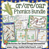or ore oar Activities- The Big Phonics Bundle