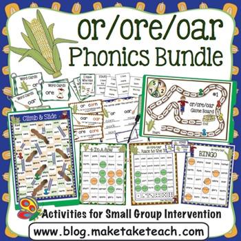 or ore oar Activities- The Big Phonics Bundle