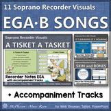 Soprano Recorder Songs ~ Interactive Visuals {Notes EGA & EGAB} Bundle