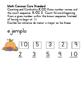 order giving numbers 1 to 10 in spanish