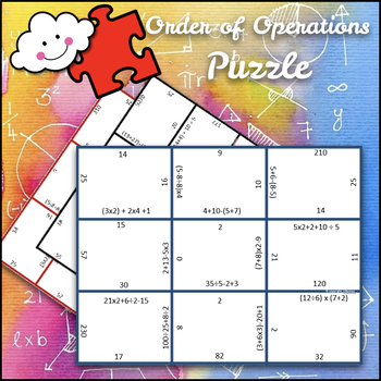 order of operation puzzle - no exponents