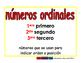 ordinal numbers/numeros ordinales prim 2-way blue/rojo