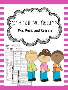 ordinal numbers pretest, posttest, and retest