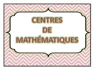 organisation Rotations Centres (ateliers) de Math.
