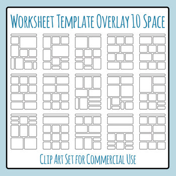 Worksheet Templates Overlays 10 Space Clip Art Pack for Commercial Use