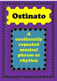 ostinato poster, ostinato anchor chart, teachers resources
