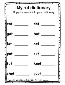 ot Word Family Journal