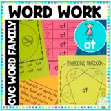 'ot' Word Family Word Work