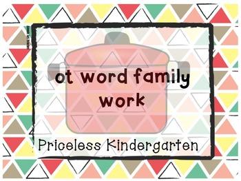"""""""ot"""" word family work"""