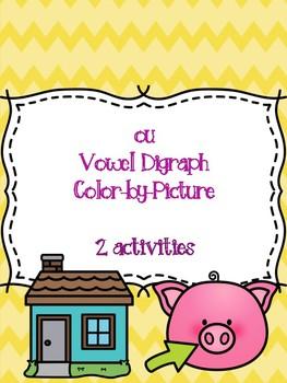 ou Vowel Digraph Color-by-Picture