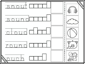ou Vowel Digraph Cut and Paste
