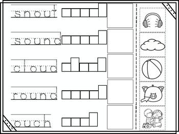 ou Vowel Digraph Cut and Paste
