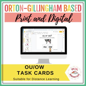 ou and ow Diphthong Task Box (Orton-Gillingham)
