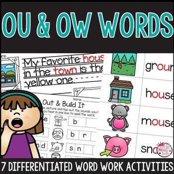 ou and ow word work activities