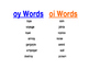 ou oi Poster and Word List