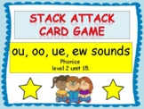 "ou, oo, ue, ew sounds ""Stack Attack"" card game"