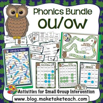 ou ow Activities - The Big Phonics Box