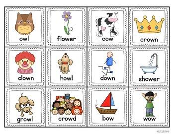 ou & ow Literacy Centers