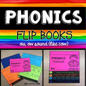 Journeys Yeh-Shen | Dipthongs ou, ow | Phonics Flip Book