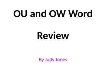 """""""ou"""" """"ow"""" sounds"""