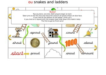 ou phonics snake and ladders