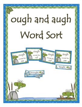 ough and augh Word Sort (Frogs)