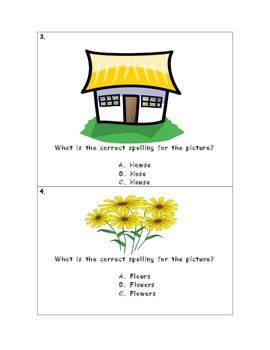 ou/ow Sound Spelling Task Cards
