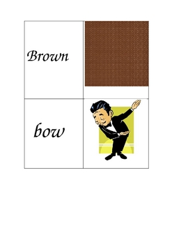 ou/ow ( as in house/cow) matching cards