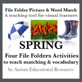 Spring File Folder Activities - Picture & Word Match