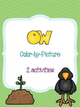 ow Long Vowel Color-by-Picture
