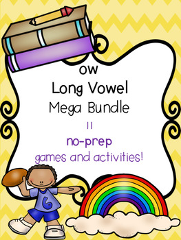ow Long Vowel Mega Bundle! [11 no-prep games and activities]