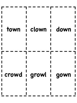 ow Vowel Digraph Bingo [10 playing cards]