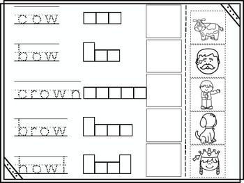 ow Vowel Digraph Cut and Paste