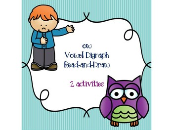 ow Vowel Digraph Read-and-Draw