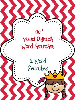 ow Vowel Digraph Word Searches!