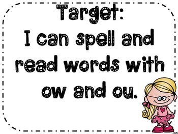 ow and ou Spelling Games and Activities
