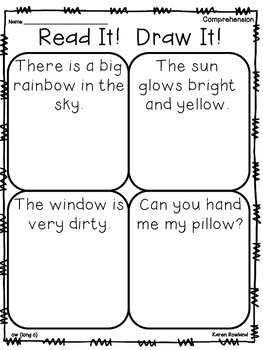 ow (long o) words - fluency and comprehension