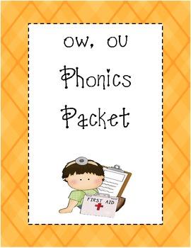 ow, ou Phonics Packet
