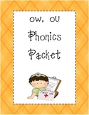 ow, ou Phonics Packet