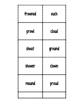 ow-ow, ou_ Word Sort